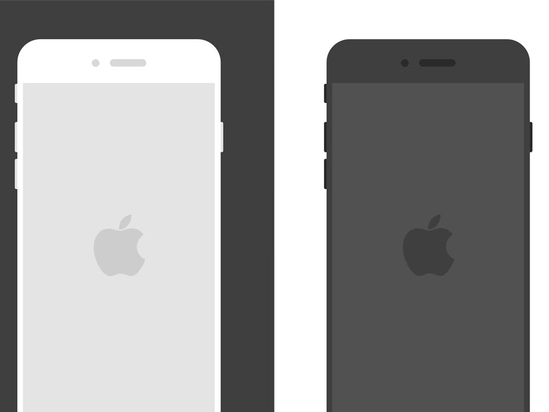 Flat iPhone 6 Sketch Templates by Shane Jeffers - Dribbble