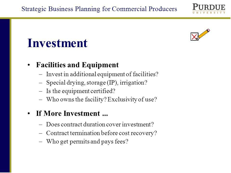 Strategic Business Planning for Commercial Producers Agricultural ...