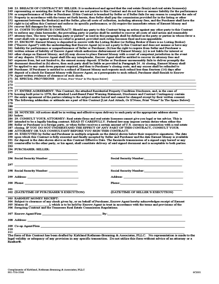 Contract for Sale and Puchase of Real Estate - Virginia Free Download