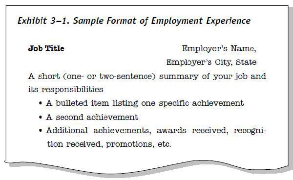 Resume Title Samples | Free Resumes Tips