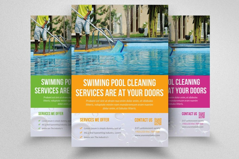 Swimming Pool Cleaning Service Advertising by Designhub ...