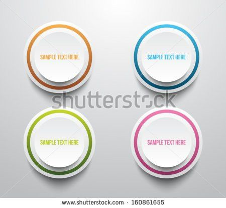 Set Four Paper Banners Color Thin Stock Vector 160861655 ...