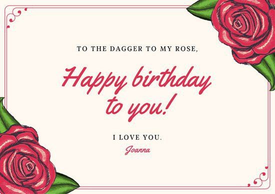 Red Boyfriend Birthday Card - Templates by Canva