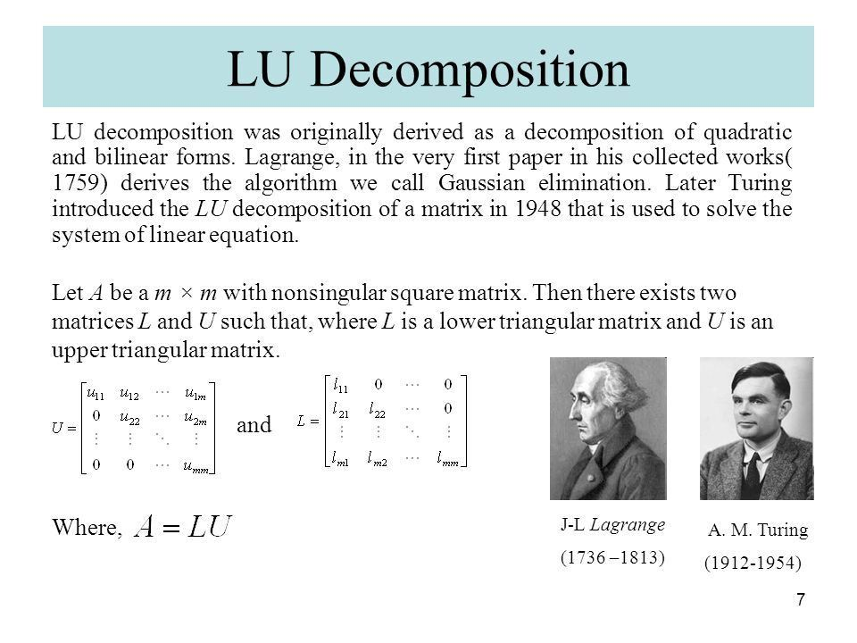 Matrix Decomposition and its Application in Statistics - ppt download