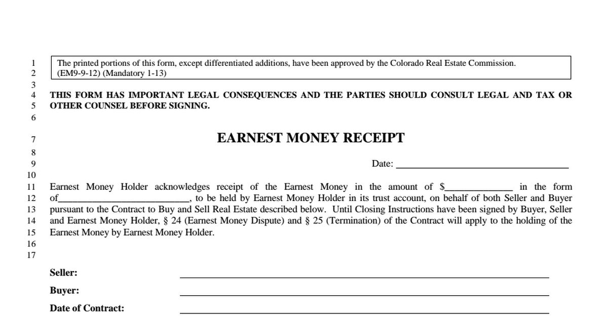 Earnest Money Receipt .pdf - Google Drive