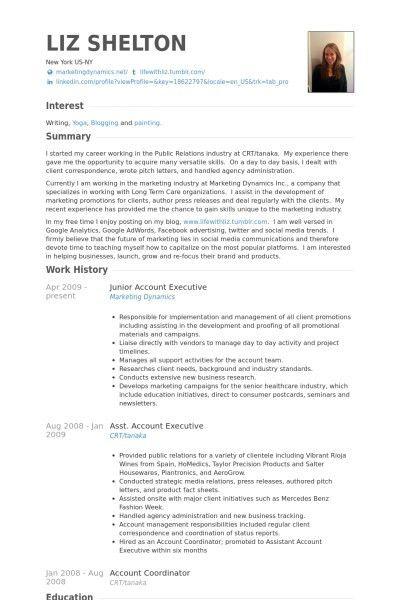 Account Executive Resume Sample | jennywashere.com