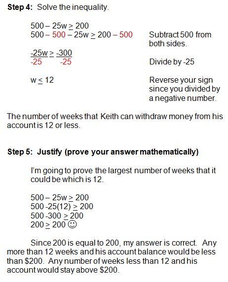 Solving Word Problems in Algebra - Inequalities