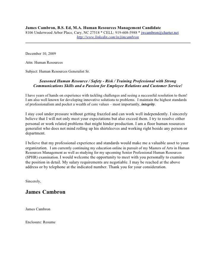 Free Resume Cover Letter Examples. Cover Letter Example For ...