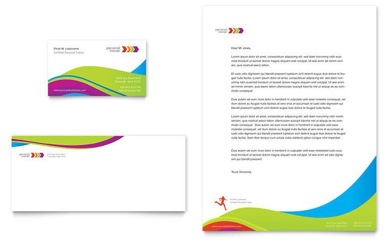 Personal Trainer Business Card & Letterhead Template - Word ...