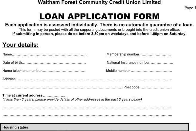 Loan Application Form | Download Free & Premium Templates, Forms ...
