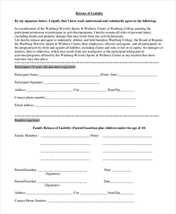 Sample Release Form - 9+ Examples in PDF, Word