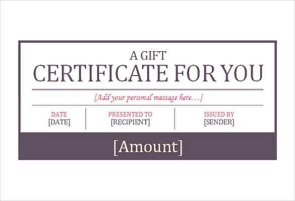 Hotel Gift Certificate Template – 7+ Free Word, PDF Format ...