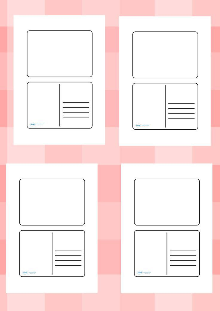 Twinkl Resources >> Blank Postcard Templates >> Printable ...
