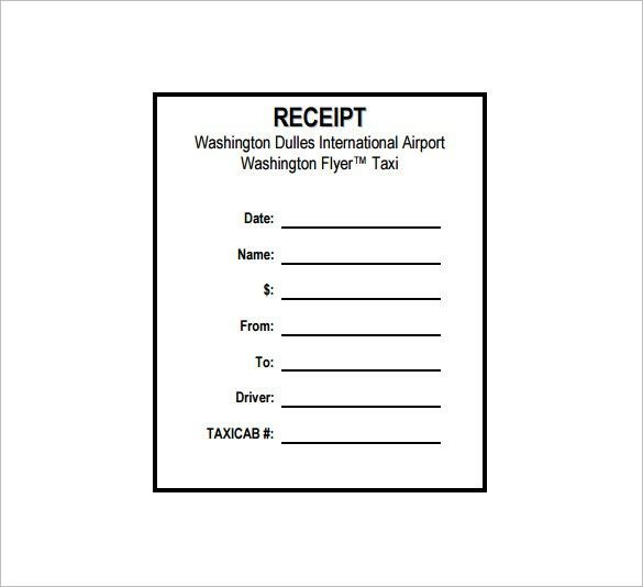 Taxi Receipt Template - 12+ Free Word, Excel, PDF Format Download ...