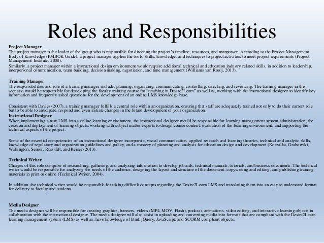 "Team ""C"" Organizational Plan Roles & Responsibilities"