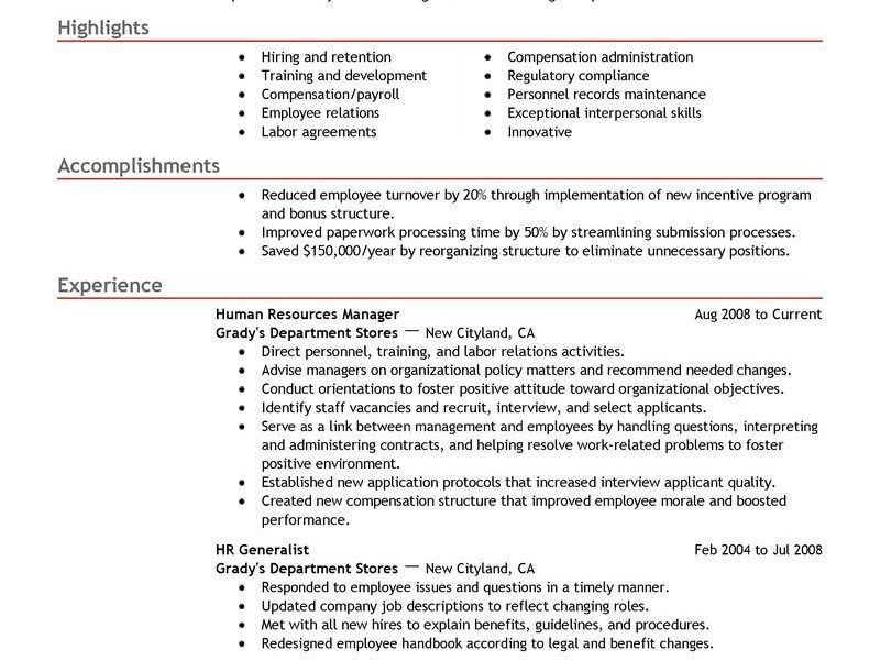 Hr Resume Examples. Hr Manager Resume Sample Strategic Thinker ...