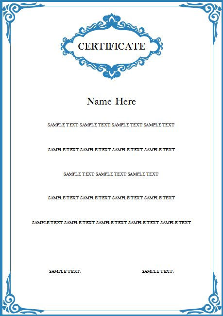 Student Certificate   Free Student Certificate Templates