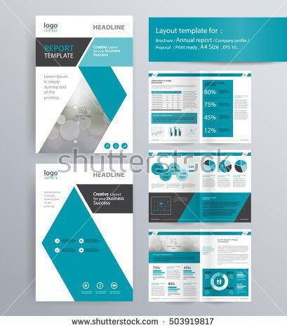 Professional Business Presentation Slide Show Vector Stock Vector ...