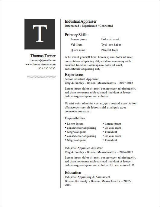 Microsoft Template Resume. Microsoft-Office-Resume-Cv01 Download ...