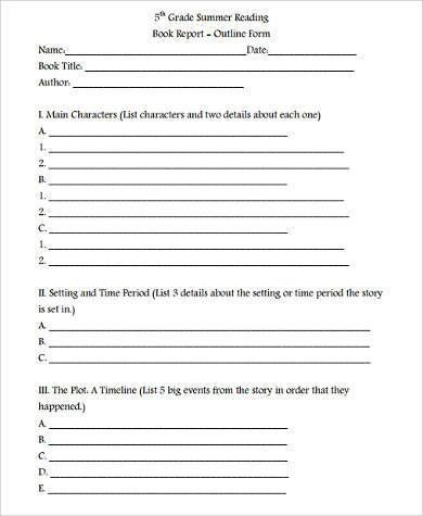 Sample Book Report Forms - 9+ Free Documents in Word, PDF