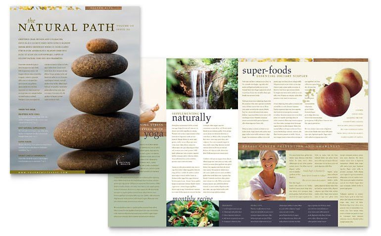 Naturopathic Medicine Newsletter Template - Word & Publisher