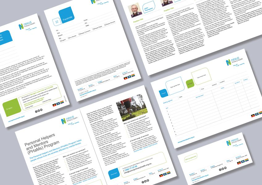 Health provider stationery and brochure Word templates - Cordestra