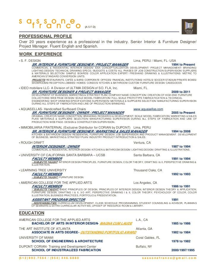 SASSONE FRANCO- Resume
