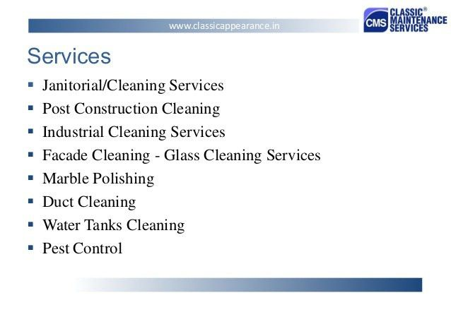 CLASSIC MAINTENANCE SERVICES PVT. LTD. - (Presentation)