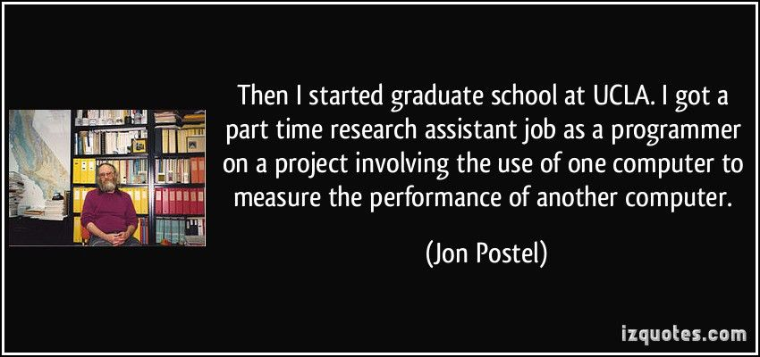 Then I started graduate school at UCLA. I got a part time research ...