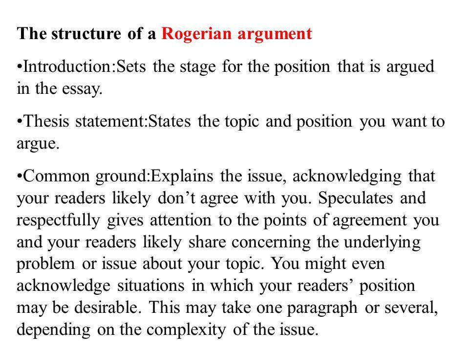 rogerian essay Home essays rogerian essay rogerian essay argumentative essay social responsibility is an ideal topic for debate.