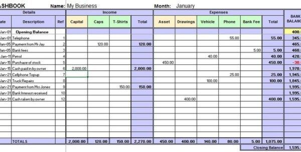 Excel Accounting Template For Small Business 4 Small Business ...