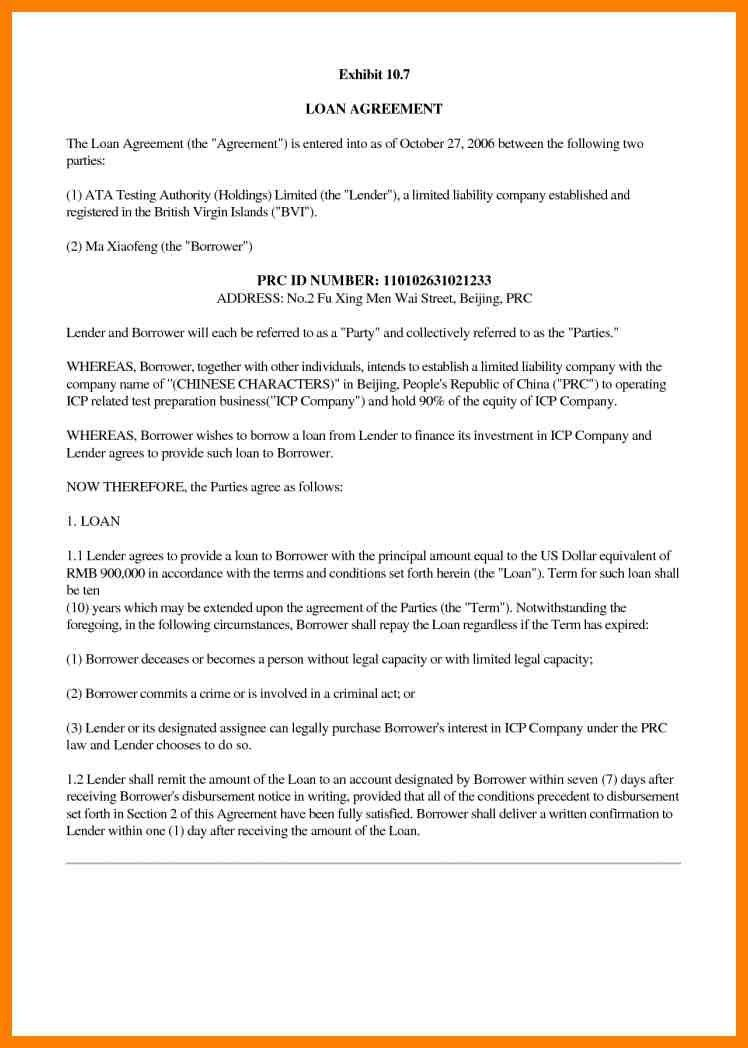 Business Agreement Letter Between Two Parties - Best Template ...