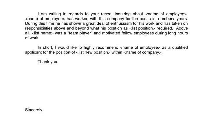 Personal Recommendation Letter Samples personal reference letter ...