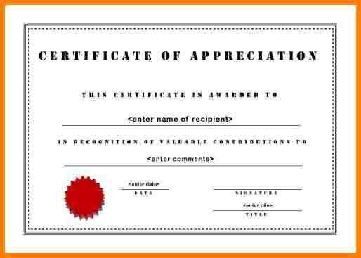 Sample Certificate Of Appreciation. Free Certificate Of ...