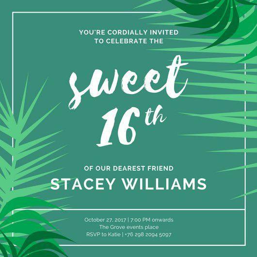 Sweet 16 Invitation Templates - Canva