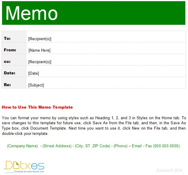 Interoffice Memo template (For Word) - Dotxes