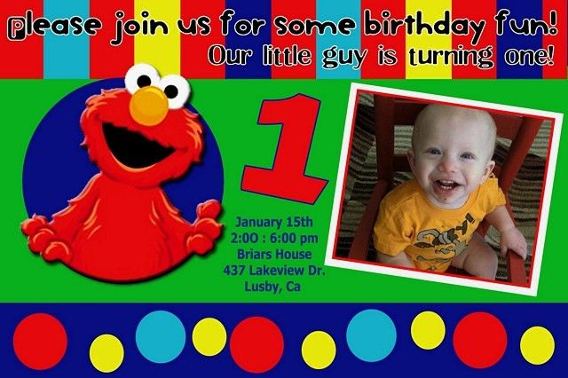 Elmo 1St Birthday Invitations | badbrya.com