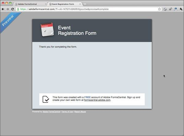Creating a Form from a Template > Using the New Adobe Forms ...