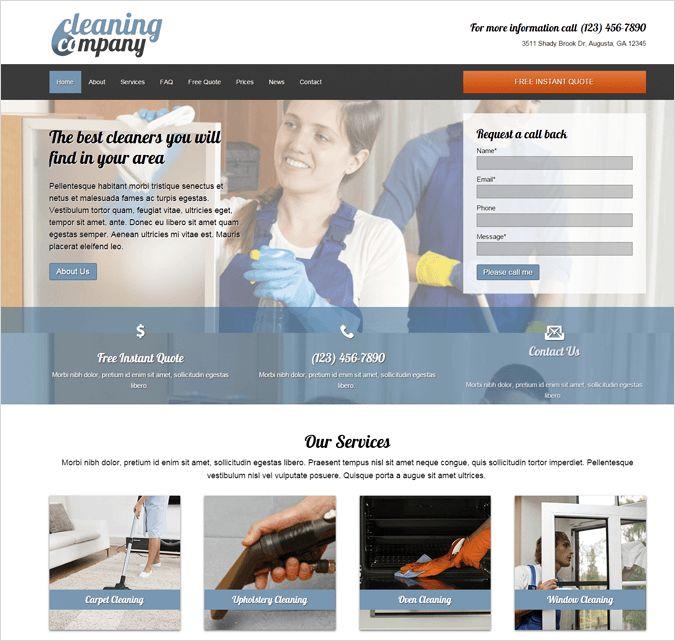 10+ Best House Cleaning and Housekeeping Service WordPress Themes ...
