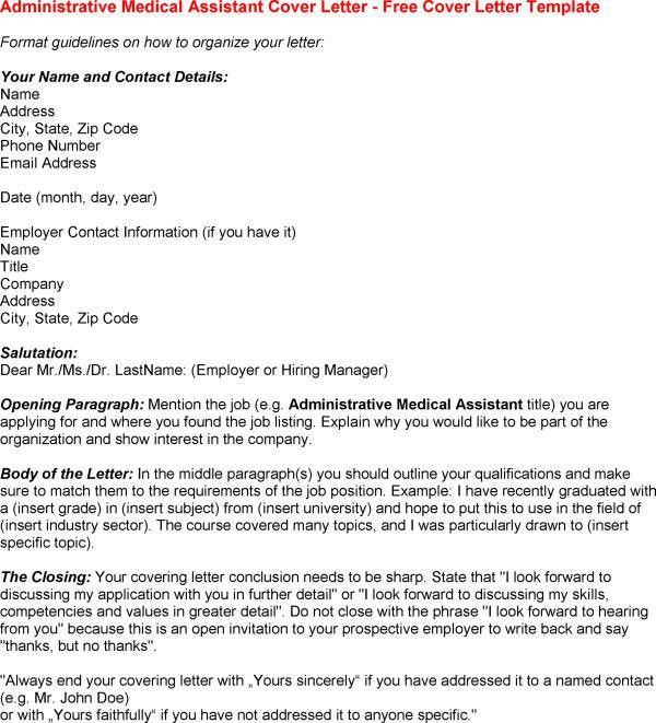 sample medical assistant internship coverletter Ricole blog for ...