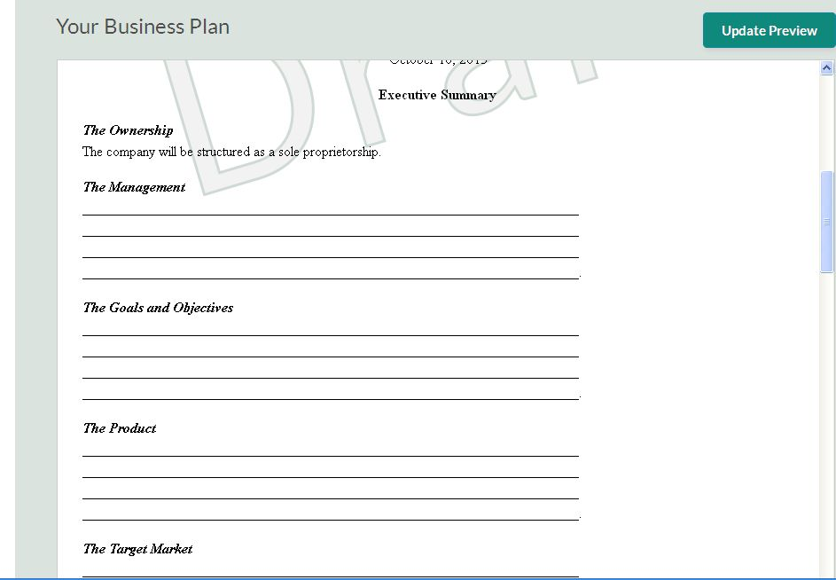 Free quality business plan templates