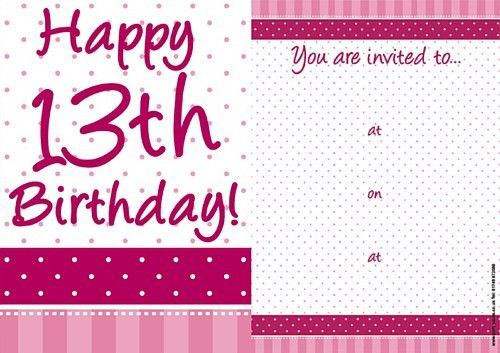 13Th Birthday Invitations | badbrya.com