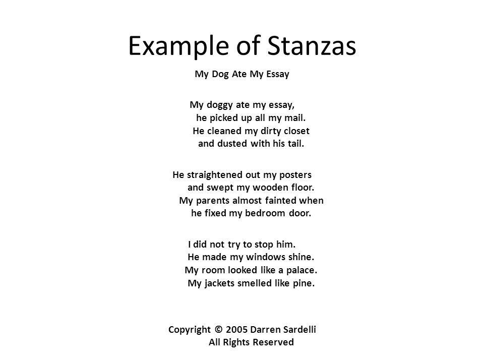 Poetry: It's Not Just for Hipsters.. Stanza A unit within a larger ...