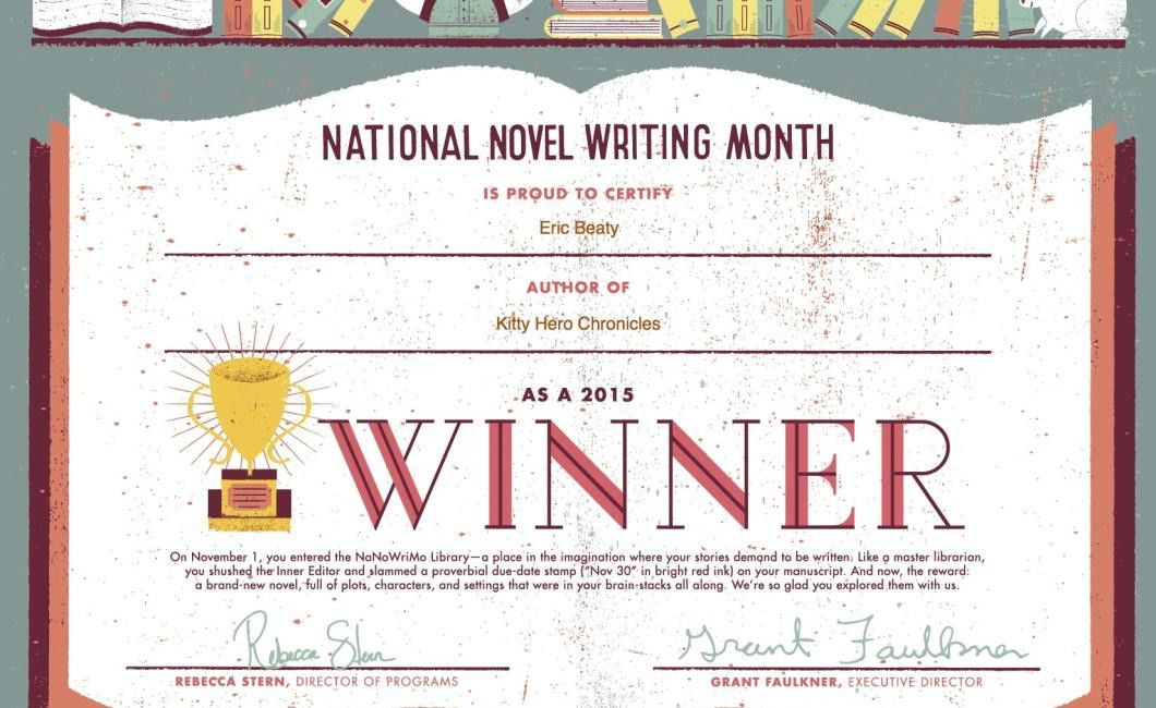 NaNoWriMo Winner for 2015! - Eric Beaty