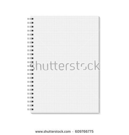 Vector Realistic Closed Notebook Vertical Blank Stock Vector ...