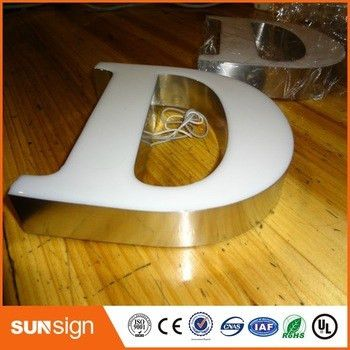 Illuminated Sign Alphabet Letters Outdoor Led Epoxy Resin Sign ...