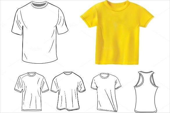 Blank T Shirt Template – 20+ Free PSD, Vector EPS, AI, Format ...