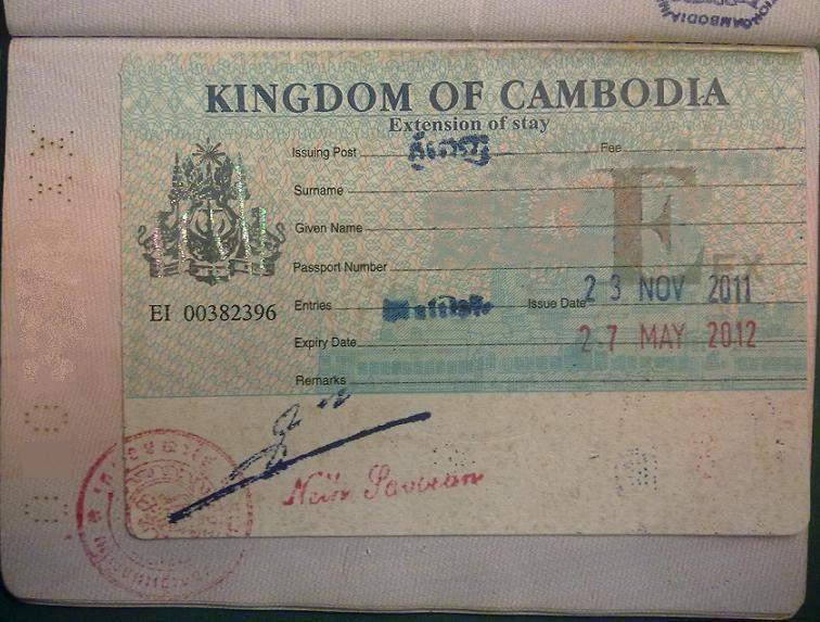 Visa for Cambodia