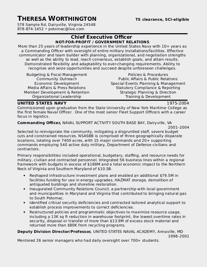 How To Write A Military To Civilian Resume Resume Genius Free ...