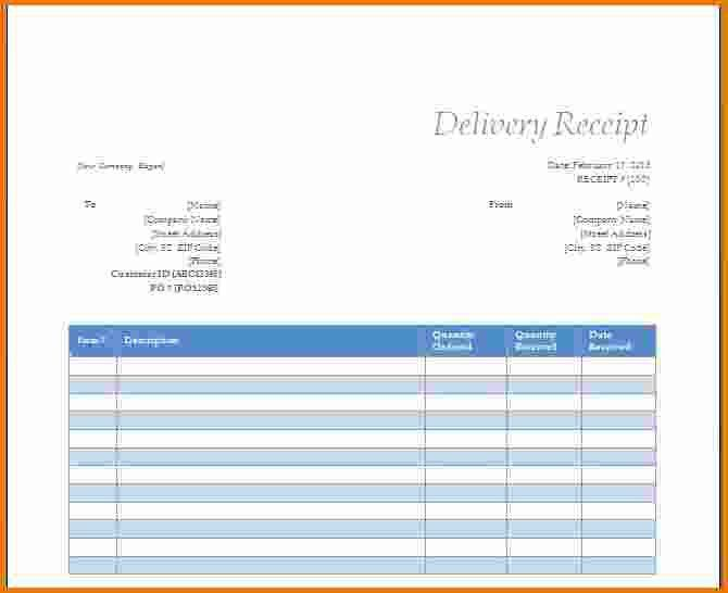 6+ microsoft word receipt template | Expense Report